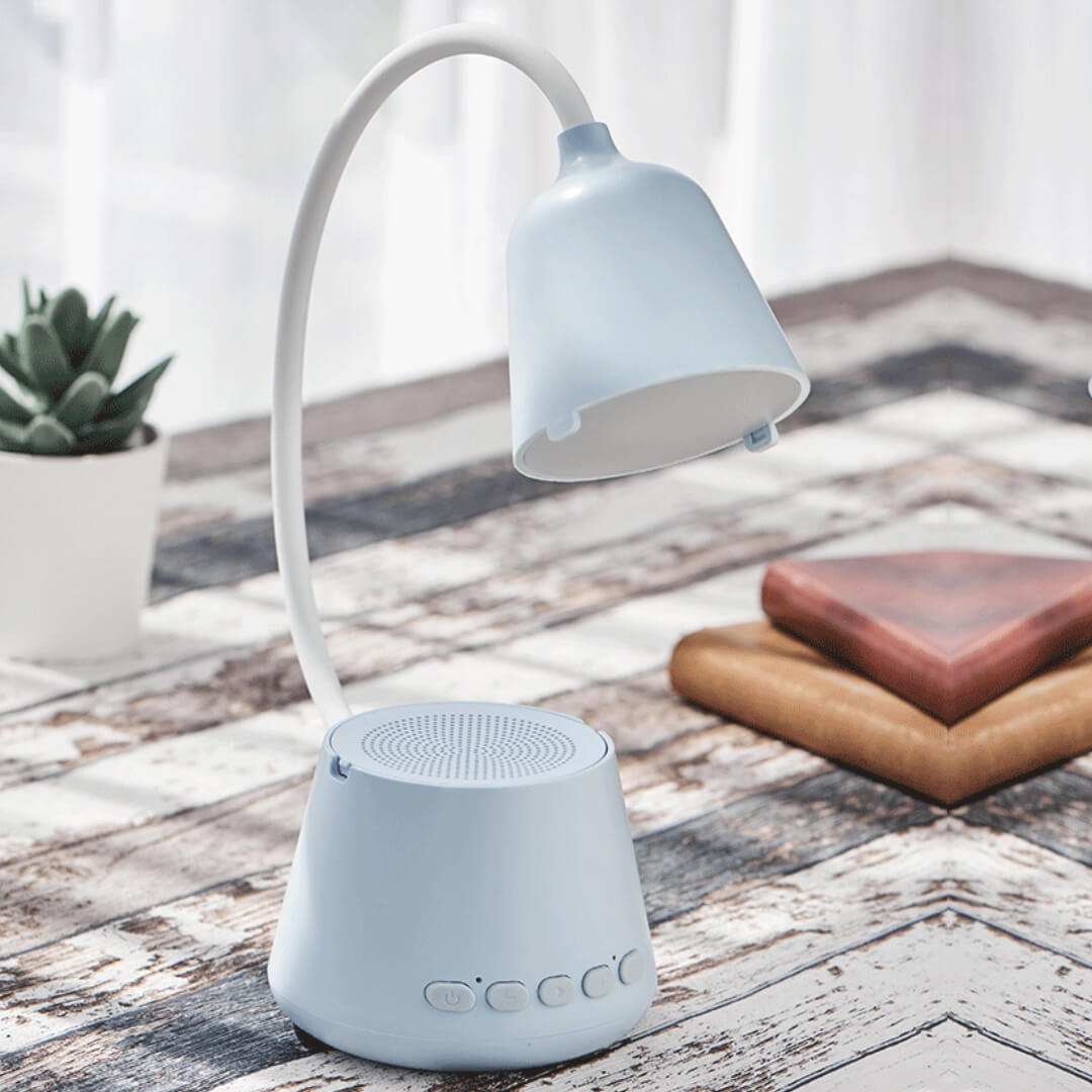 Voice Assistant Bluetooth Speaker with Lamp
