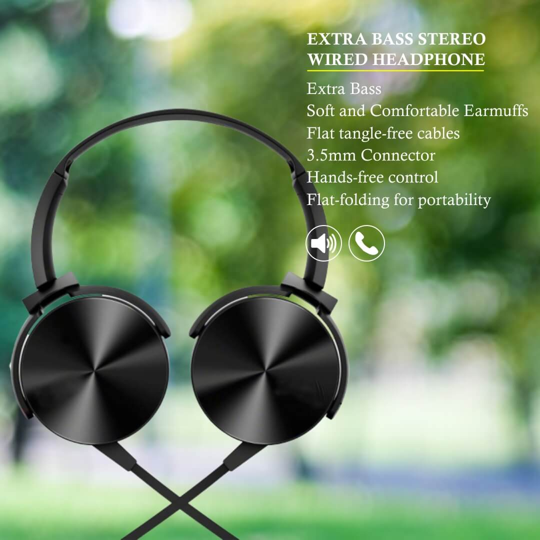 Extra Bass Stereo Wired Headphone