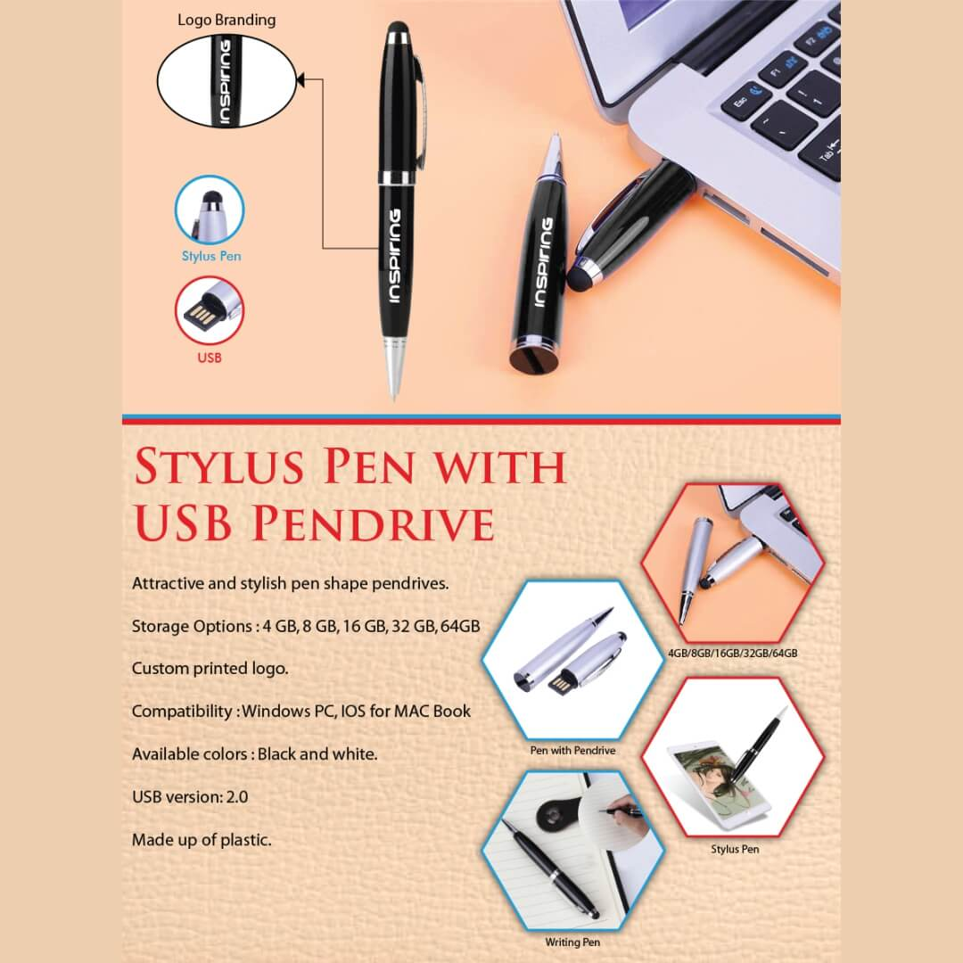 Stylus Pen with Pendrive