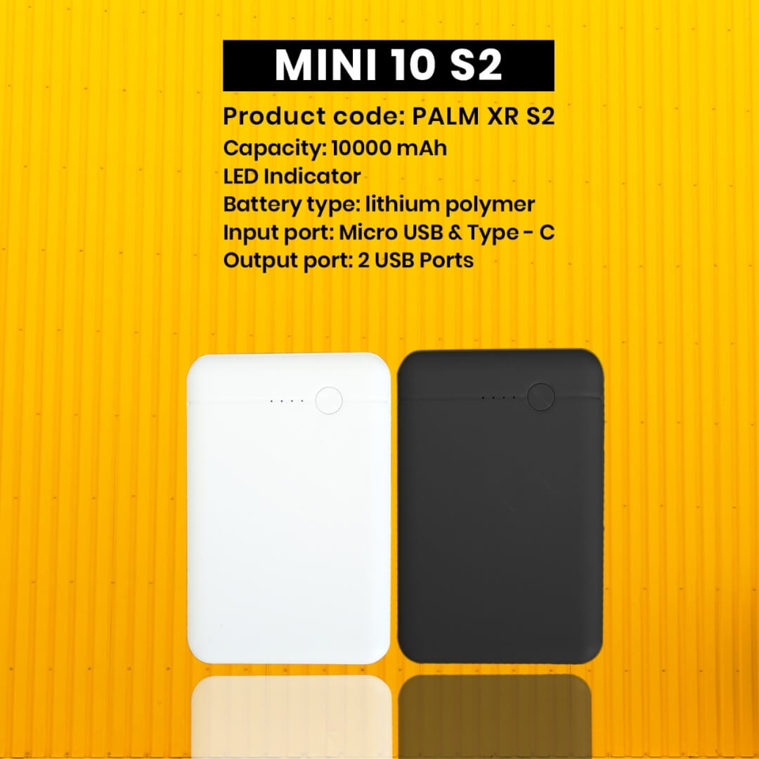 Mini 10s2 Portable 10000mAH Power Bank