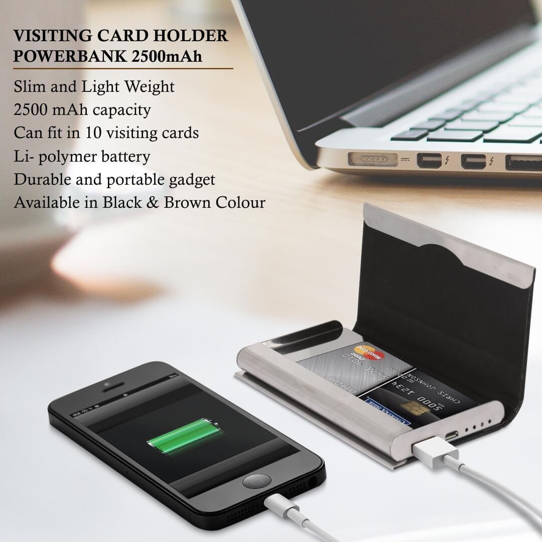Visiting Card Holder Powerbank 2500mAH