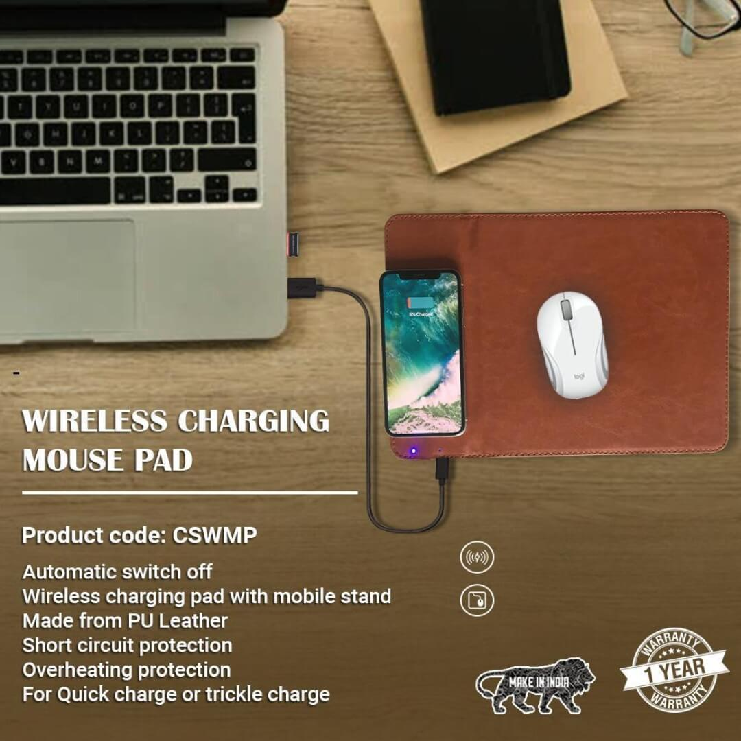 Mouse Pad with Qi Wireless Charger