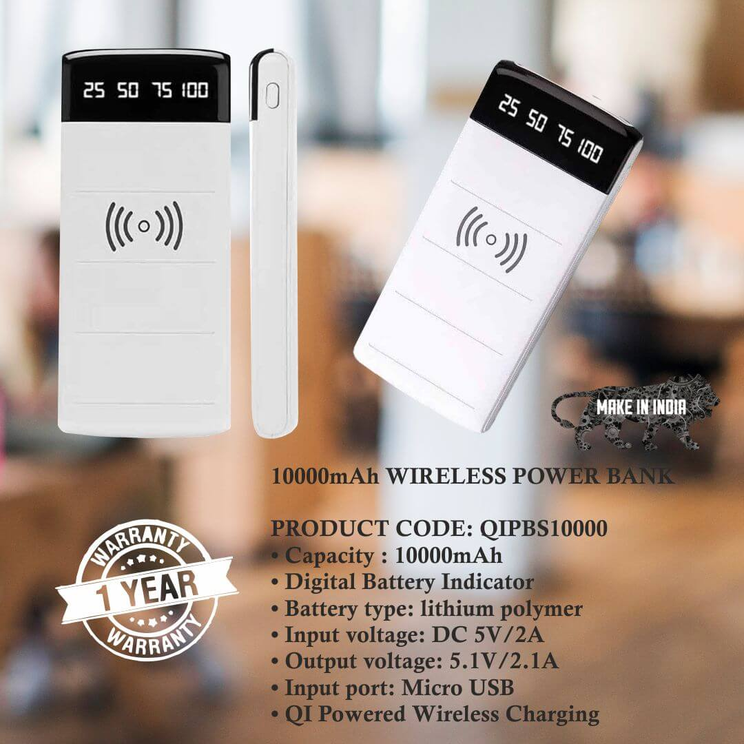 Wireless 10000mAH Power Bank