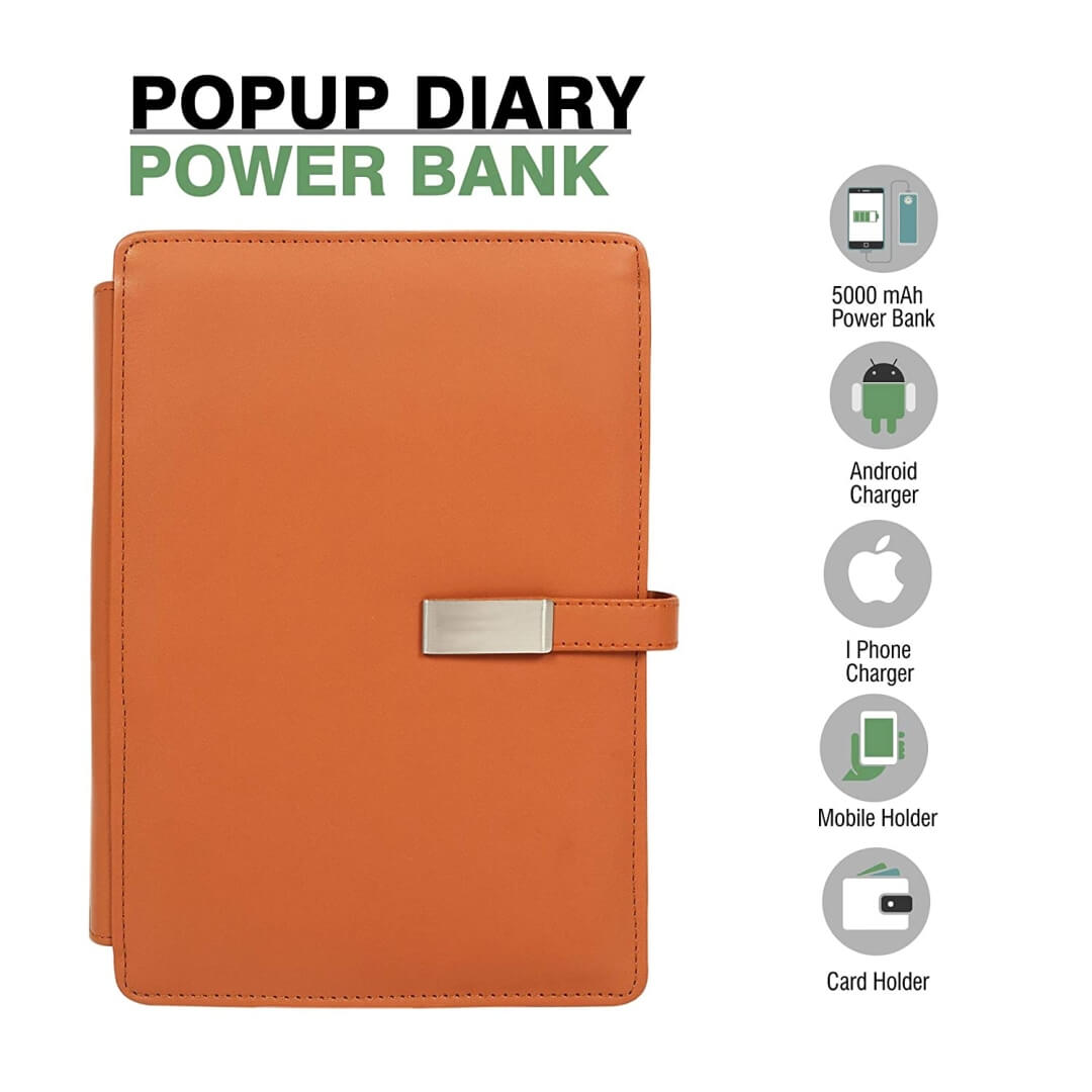 Pop Up Diary Power Bank 5000mAH
