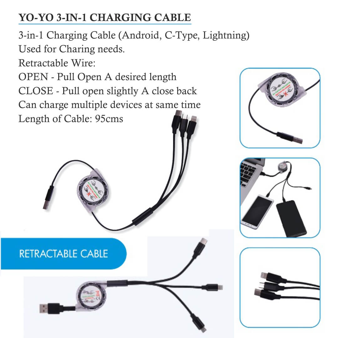 Yo Yo Data Cable with C Type