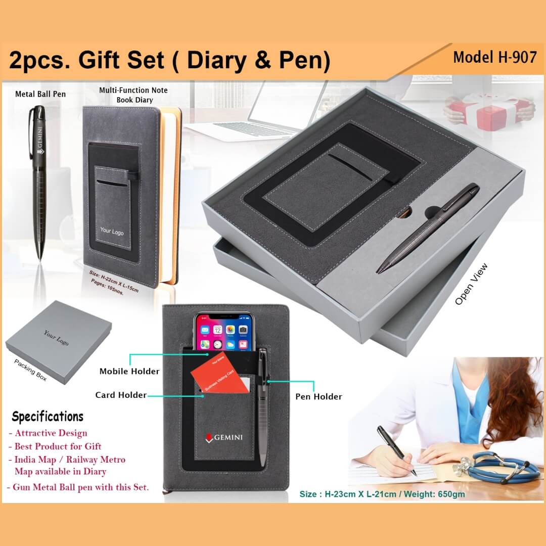 2 in 1 Gift Set - Diary and Pen 907