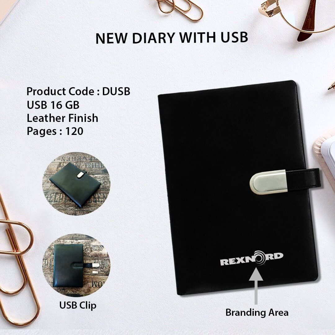 Diary with 16 GB USB Pendrive