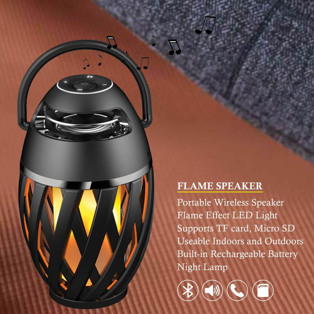 LED Flame Atmosphere Bluetooth Speaker