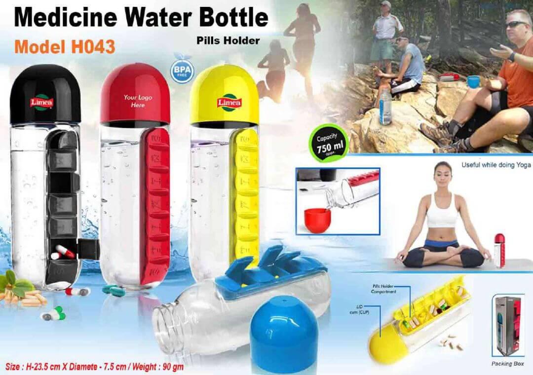 Medicine Water Bottle Pills Holder 043