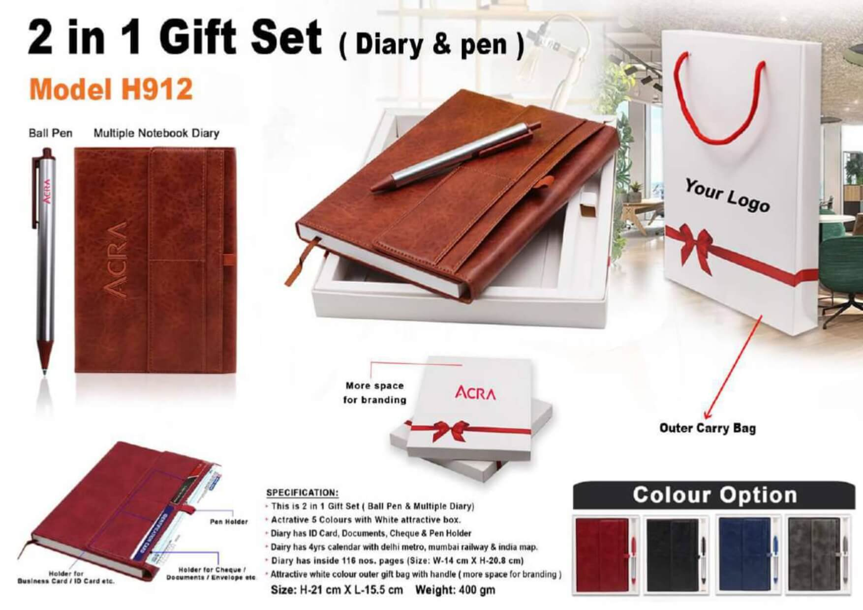 2 in 1 Gift Set Diary and Pen 912