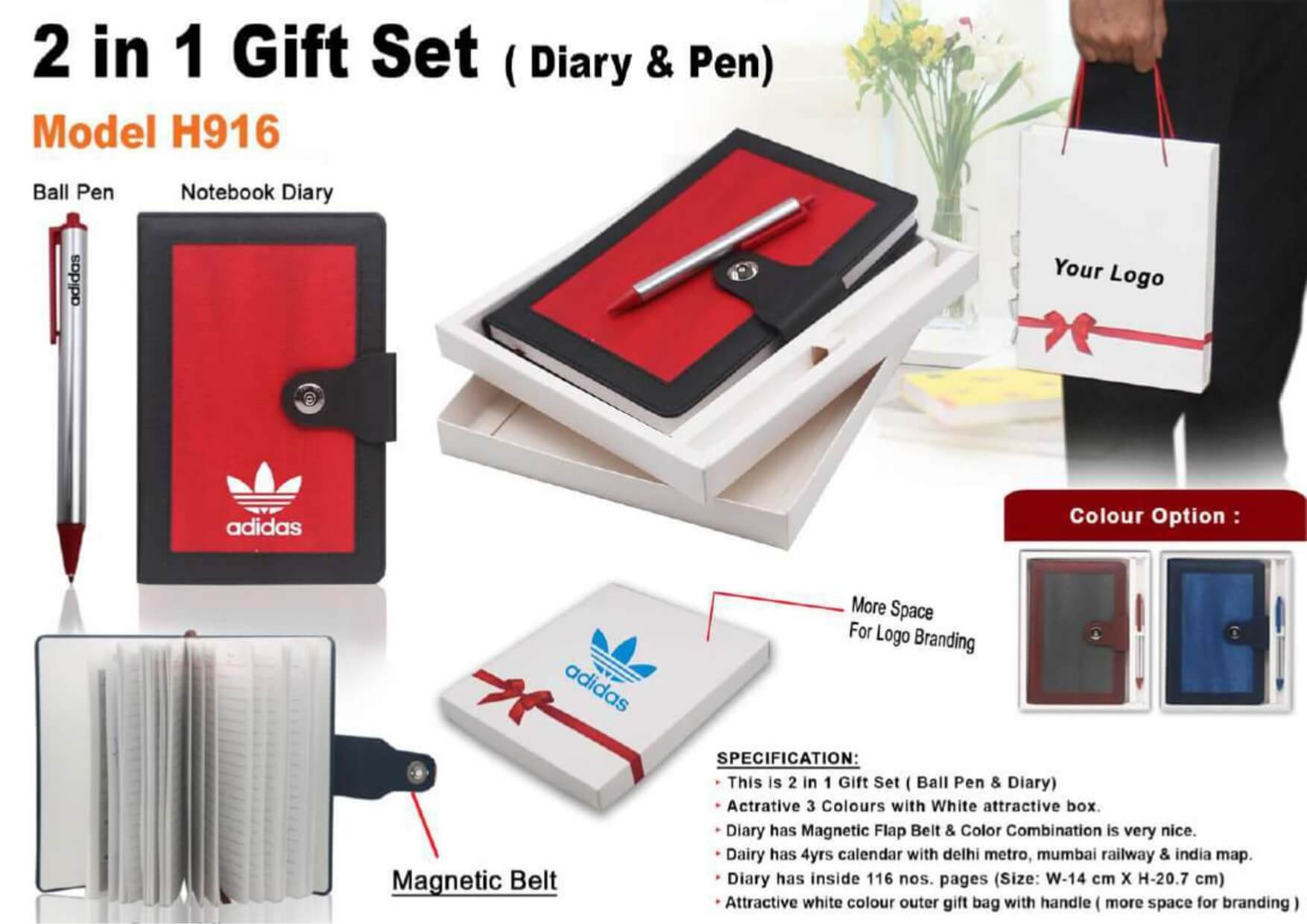 2 in 1 Gift Set Diary and Pen 916