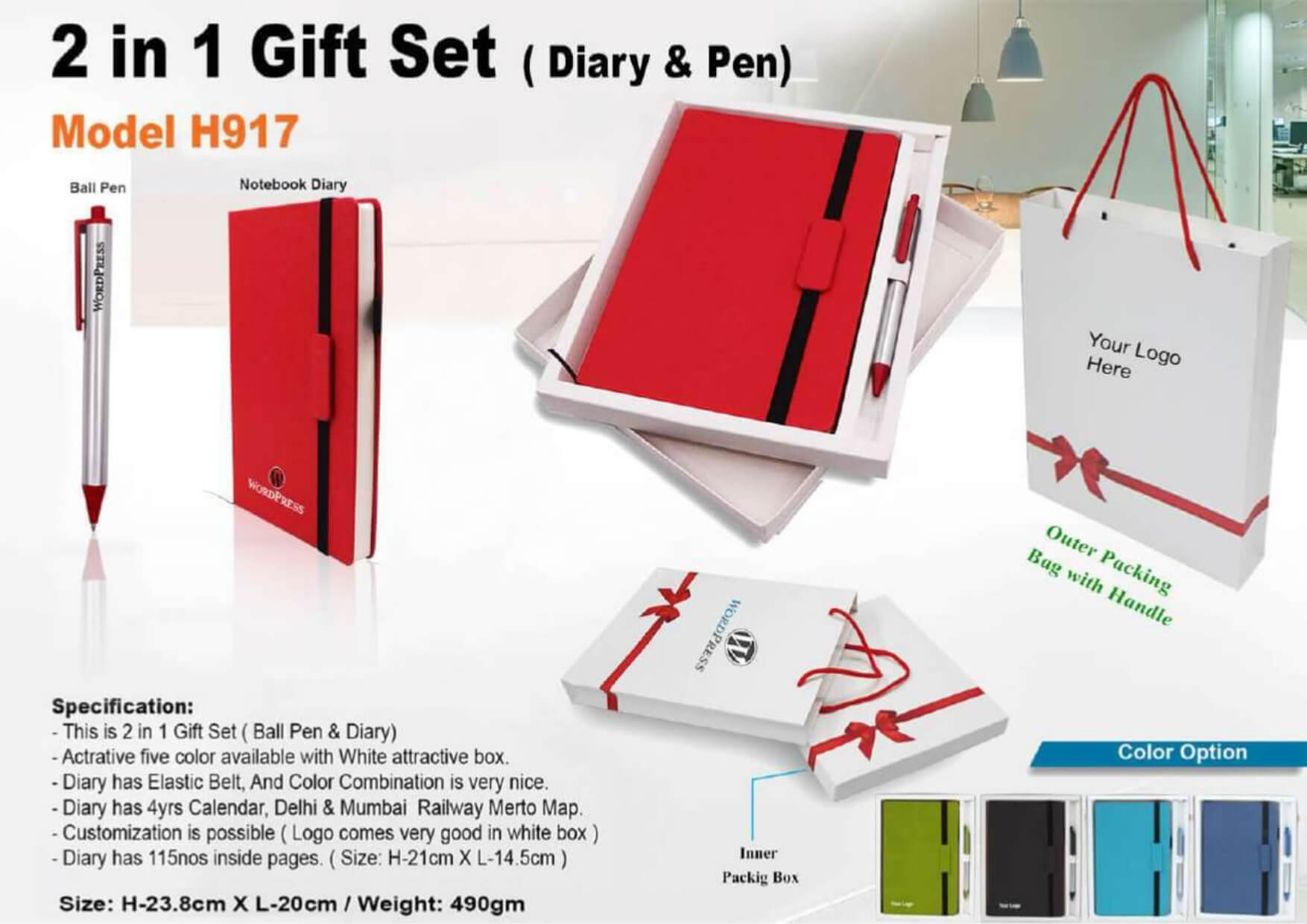 Diary and Pen 2 in 1 Gift Set 917