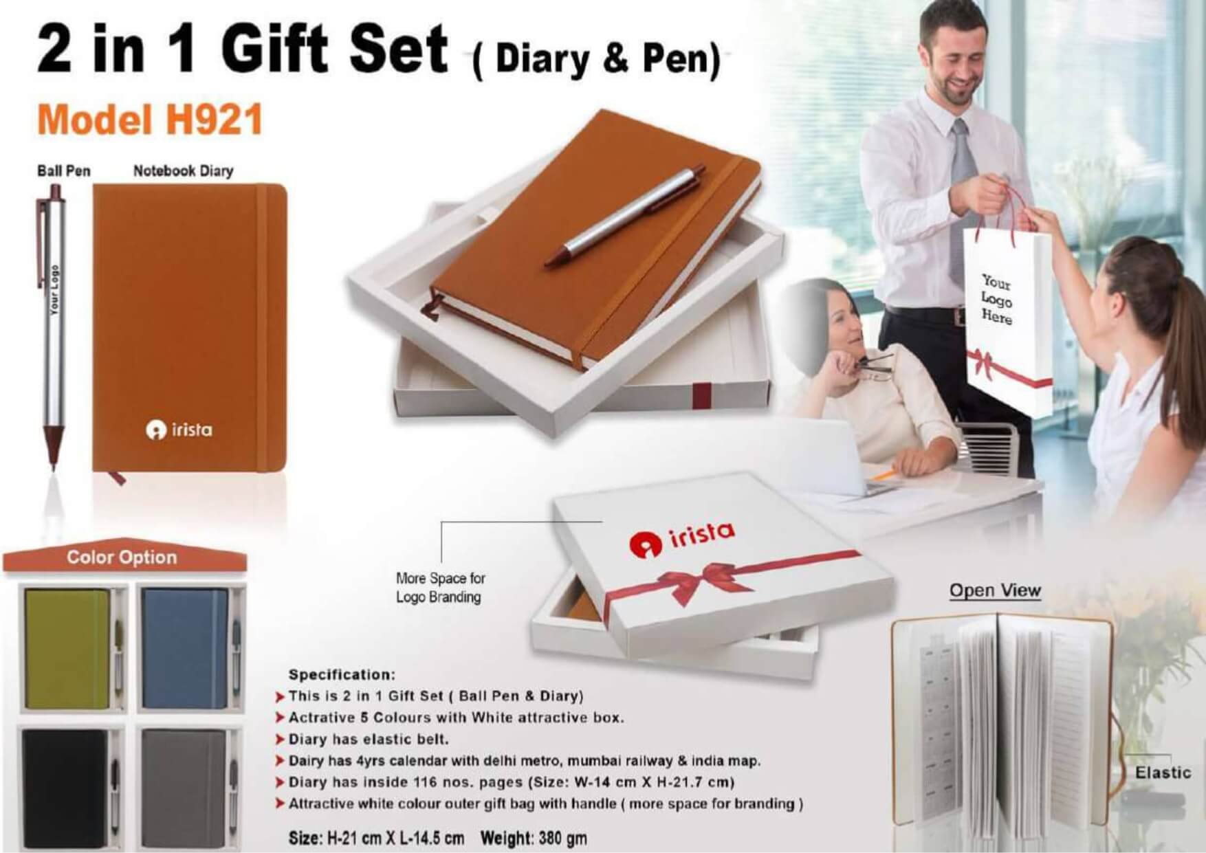 Diary and Pen 2 in 1 Gift Set 921