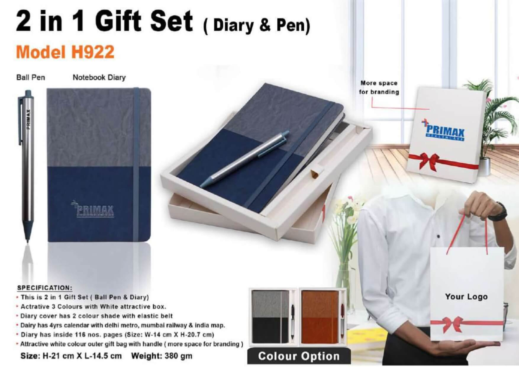 Diary and Pen 2 in 1 Gift Set 922