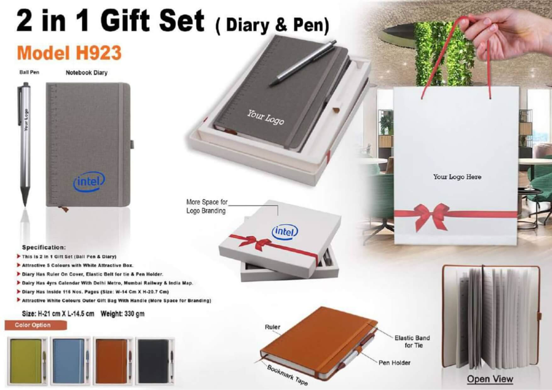 Diary and Pen 2 in 1 Gift Set 923