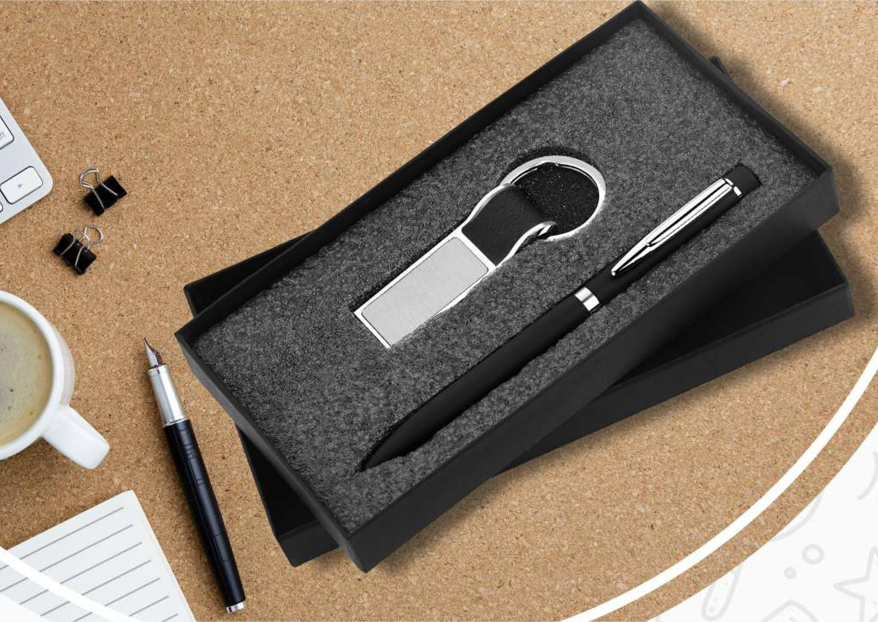 Pen and Keychain Set