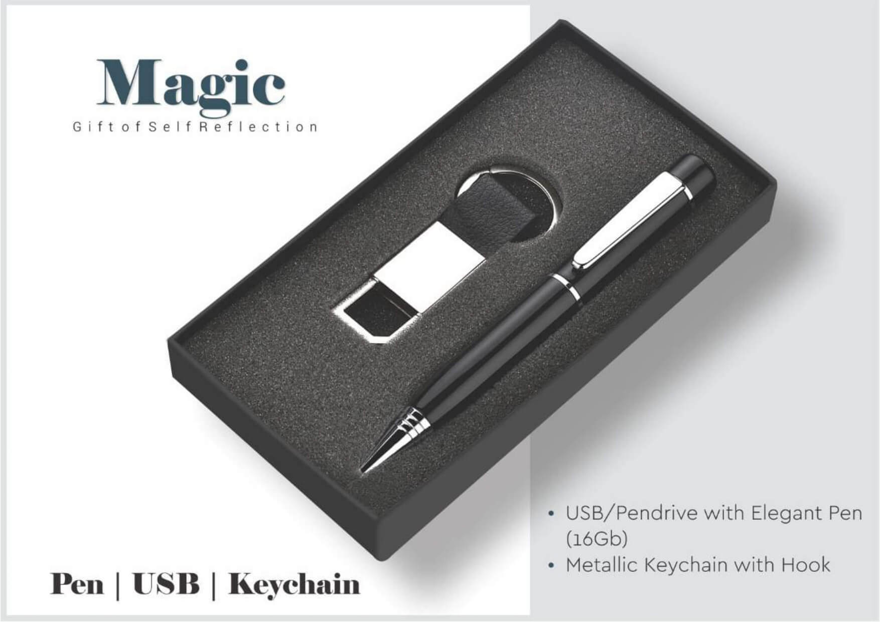 Pen with Usb and Keychain Magic
