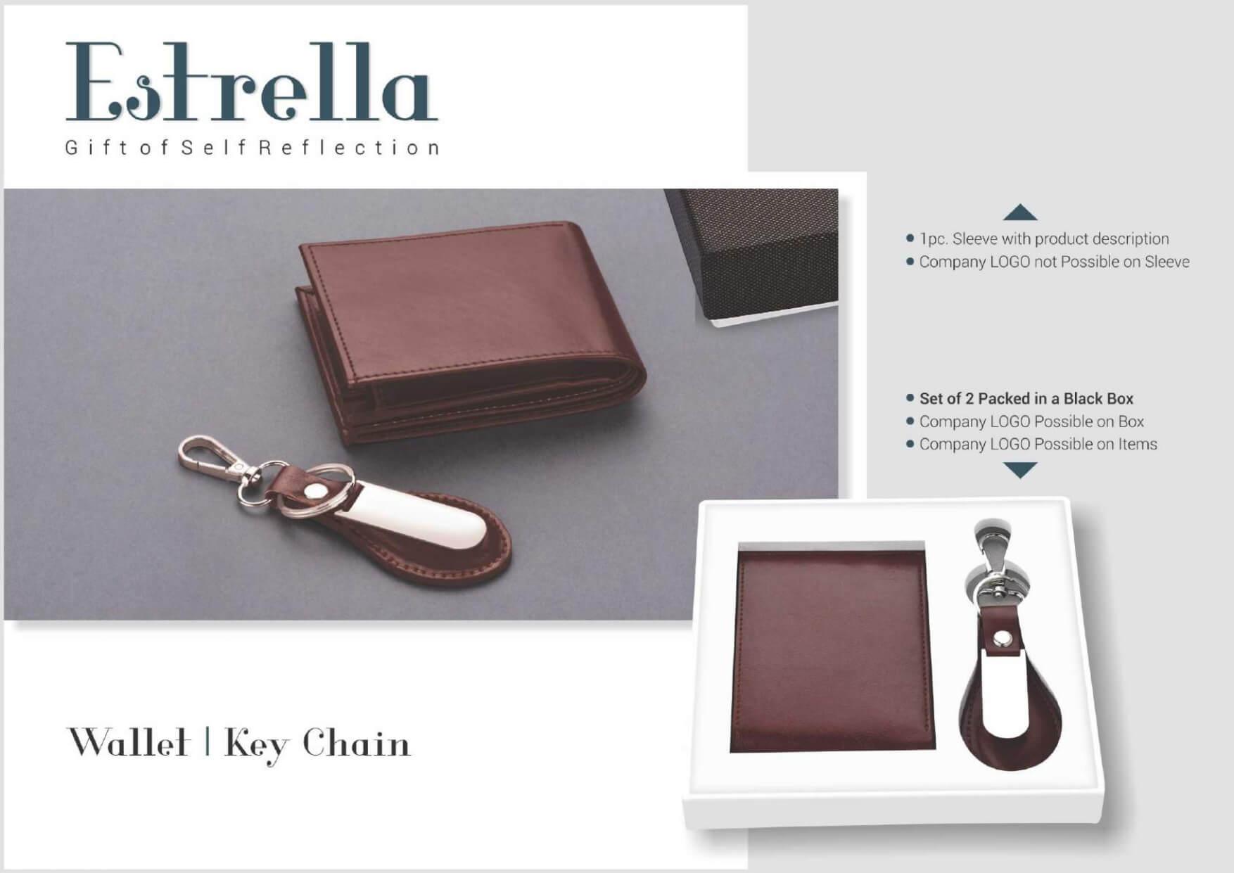 Wallet and Keychain Set 2 in 1 Estrella