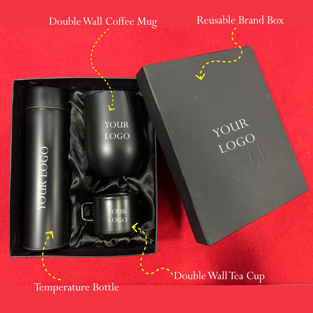Temperature Flask with Mug and Tea Cup